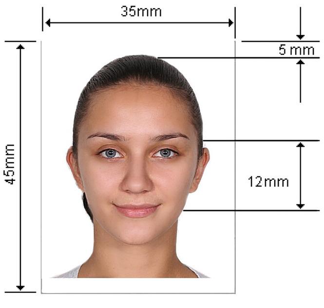 Формат фотографии на паспорт